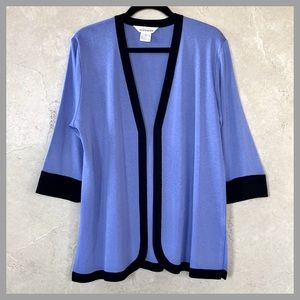Exclusively Misook Open Knit Cardigan Jacket